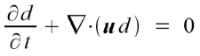 The advection equation